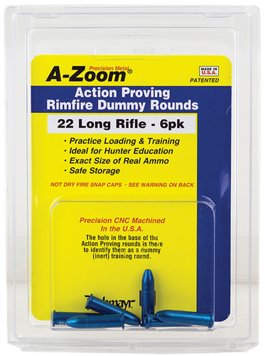 Pachmayr 12208, 22 Long Rifle, Action Proving Rimfire Dummy Rounds, 6 PK