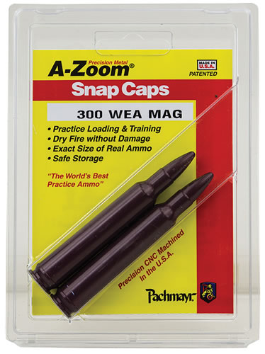 Azoom 12284 300 Weatherby Mag Snap Caps 2 Pack