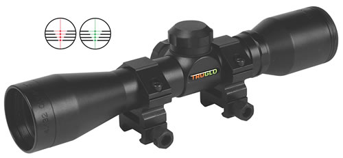 TruGlo  Cross Bow Scope TG8504B3, 4x, 32mm Obj, 1 in Tube Dia, Black, Range Finding/Trajectory Compensating Reticle