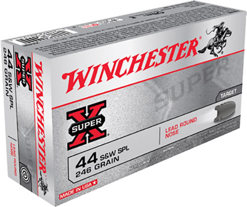 Winchester Super-X Centerfire Pistol Ammunition X44SP, 44 Special, Lead Round Nose, 246 GR, 755 fps, 50 Rd/bx