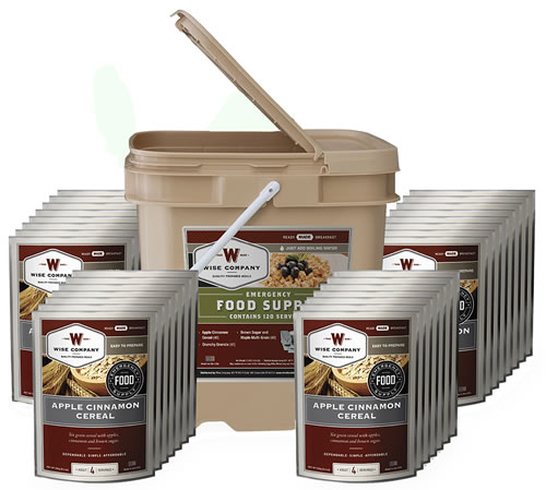 Wise Foods 01121 Ready to Eat Meals Breakfast Bucket, 120 Servings