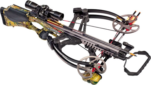 "Barnett 78205 Vengeance Crossbow Package, 165 lbs Draw, 365 FPS, 3x32 Scope, Quiver, (3) 22"" Arrows Included, Camo Finish"