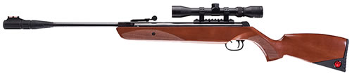 Umarex 2244221, Ruger Phoenix Air Rifle Kit With 4x 32mm Scope, Break Open Action, .22 Cal, Brown Synthetic Stock, Black Finish