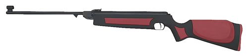 CZ 07009 Slavia 634 Lux Air Rifle, Break Open Action, .177 Cal, Synthetic Stock, Red/Black Finish