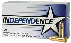 Federal Cartridge Independence Ammunition 5256, 40 S&W, Full Metal Jacket, 165 GR, 1130 fps, 50 Rd/bx