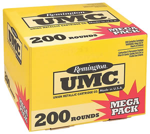 Remington UMC Rifle Ammunition Mega Pack L223R3A, 223 Remington, Metal Case, 55 GR, 3240 fps, 200 Rd/bx