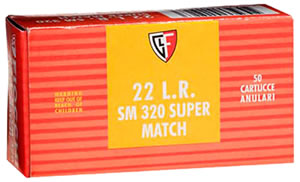 Fiocchi Rimfire Ammunition 22SM320, 22 Long Rifle, Round Nose, 40 GR, 1050 fps, 50 Rd/bx