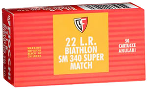 Fiocchi Rimfire Ammunition 22SM340, 22 Long Rifle, Round Nose, 40 GR, 1120 fps, 50 Rd/bx