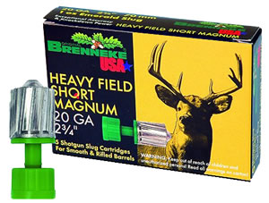 Brenneke Slugs SL202KO 2009827, 20 Gauge, 2 3/4 in, 3/4 oz, 1476 fps, Sabot Slug Shot , 5 Rd/bx