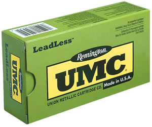 Remington UMC Leadless Handgun Ammunition LL38S17, 38 Special, Flat Nose Enclosed Base, 125 Gr, 850 fps, 50 Rd/bx