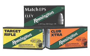 Remington Eley Target Rimfire Ammunition RE22T, 22 Long Rifle, Lead Round Nose, 40 GR, 1085 fps, 50 Rd/bx