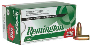 Remington UMC Handgun Ammunition Value Pack L9MM3B, 9 MM, Metal Case, 115 GR, 1135 fps, 100 Rd/b