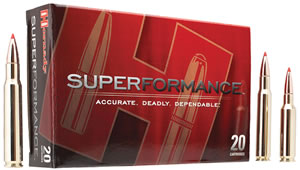 Hornady Superformance SST Ammunition 80463, 243 Winchester, SST, 95 GR, 3185 fps, 20 Rd/bx