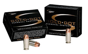 Speer Gold Dot Handgun Ammunition 23964, 45 ACP, Gold Dot Hollow Point, 185 GR, 1050 fps, 20 Rd/bx