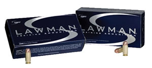 Speer Lawman Handgun Ammunition 53955, 40 S&W, Total Metal Jacket, 165 GR, 1150 fps, 50 Rd/bx