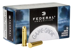 Federal Game Shok Rimfire Ammunition 716, 22 Long Rifle, #12 Shot, 25 GR, N/A, 50 Rd/bx