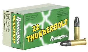 Remington Rimfire Ammunition TB22A, 22 Long Rifle, Round Nose, 40 GR, 1255 fps, 50 Rd/bx