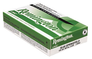 Remington UMC Rifle Ammunition L30CR1, 30 Carbine, Metal Case, 110 GR, 1990 fps, 50 Rd/bx