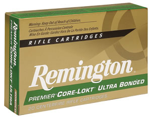 Remington Premier Ultra Mag Rifle Ammunition PR7SM2, 7 MM Remington Short Action Ultra Mag, Pointed Soft Point, 150 GR, 3110 fps, 20 Rd/bx