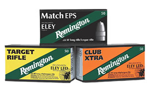 Remington Eley Match Rimfire Ammunition RE22EPS, 22 Long Rifle, Lead Flat Nose, 40 GR, 1085 fps, 50 Rd/bx