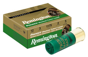 Remington Premier Heavy Magnum Turkey P10HM4, 10 Gauge, 3 1/2 in, 2 1/4 oz, 1210 fps, #4 Copper Plated Lead Shot, 10 Rd/bx