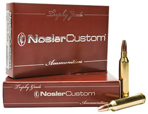 Nosler Trophy Centerfire Ammunition 60045, 7 MM Remington SAUM, AccuBond, 160 GR, 2850 fps, 20 Rd/bx