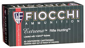 Fiocchi Rifle Ammunition 223HVA50, 223 Remington, V-Max, 50 GR, 50 Rd/bx