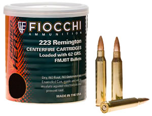 Fiocchi Canned Heat Rifle Ammunition 223CA, 223 Remington, Full Metal Jacket Boat-Tail, 55 GR, 3240 fps, 30 Rds
