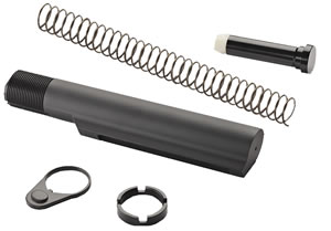 Advanced Technology A5102240 AR-15 Aluminum Civilian Buffer Tube Package, Mil-Spec