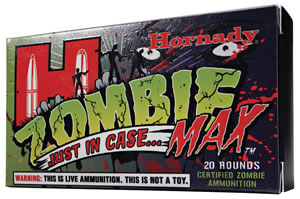 Hornady Zombie Max Ammunition 83271, 223 Rem, ZMax, 55 GR, 3240 fps, 20 Rd/bx