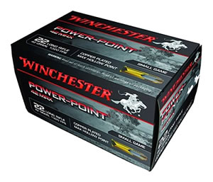 Winchester Ammo PP22LRH42U Power-Point, 42 Max, Small Game, 22 Long Rifle Ammunition, Power Point, 42 Grain, 50 Rounds, 1 Box