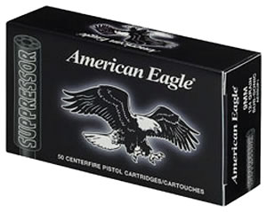 Federal Premium AE22SUP1 Suppresor, American Eagle, 22 Long Rifle Ammunition, Cooper Plated Solid Point, 42 Grain, 50 Rounds, 1 Box