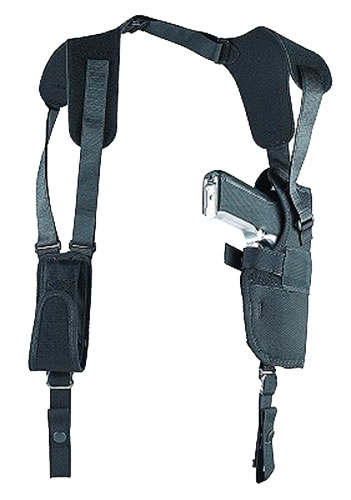 Uncle Mikes Sidekick Vertical Shoulder Holster w/Harness & Speedloader Case, Model 83151, For 14 in & 16 in Barrel TCA Super Contenders