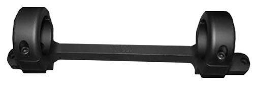 DNZ 12200 1 inch High Long Action Matte Black Base/Rings/Savage Round Receiver
