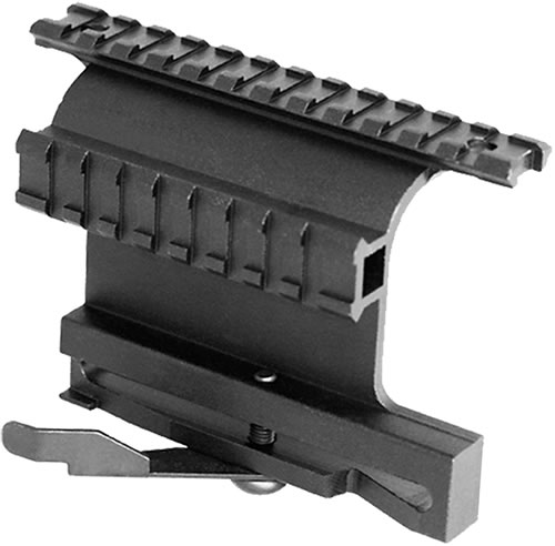 Aim Sports MK004S, Dual Rail System For AK Variants With Quick Lever, Black Finish
