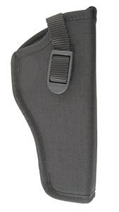 Uncle Mikes Hip Holster Fits 4.5 in -5 in Barrel Large Autos/Open End, Right Hand, Black, Model 81051