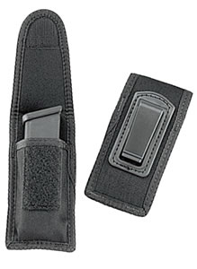 Uncle Mikes Black Single Magazine Case w/Belt Clip, Model 88241, For 9mm, 40 & Single Row 45, 10mm magazines