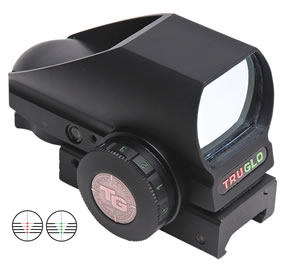 Truglo TG8380B4 Crossbow Red Dot Sight 1x 34mm 74 ft-30ft@100yds 30mm Tube Blk