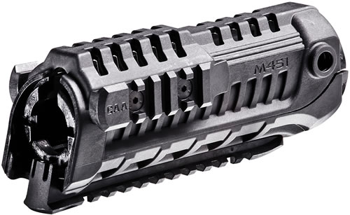 Mission First Tactical M4S1 AR15/M16 Military & Police 4 Sided Rail - Polymer - M-4 Carbine, Black