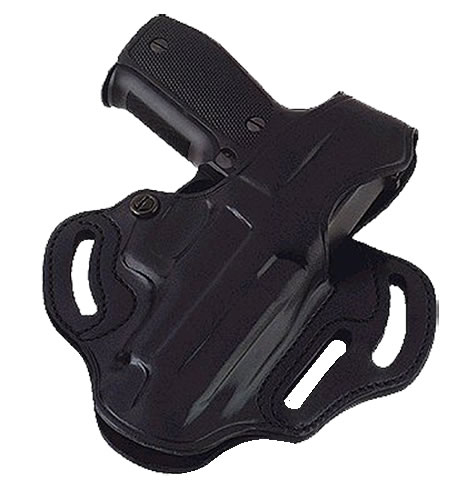 Galco CTS290B Cop 3-Slot Belt Holster w/Reinforced Thumb Break/Kahr Arms K40/K9/P40/P45/P9