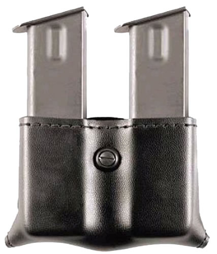 Safariland Double Magazine Pouch w/Plain Finish, Model 79186, For Ber 9/40; Brn 9; HK P7M13; Ruger 4.2-4.5 in, Sig 226/228; S&W 59-5946; Taurus PT92, 99(C), 101