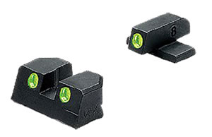 Meprolight 11410 Green Tru Dot Front/Rear Fixed Sight For 4 in /5 in Springfield XD