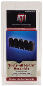 Advanced Technology  Shotshell Holder SHOO500, Black, Plastic, Holds 5 additional shotshells