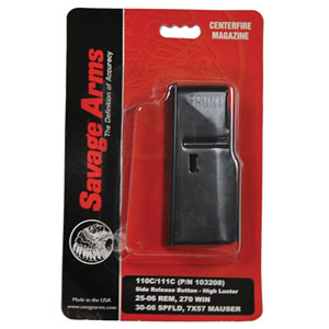 Savage 55102 4 Round Blue Detachable Box Magazine For Short Action Calibers