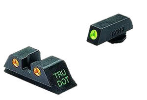 Meprolight 10222O Green Front/Orange Rear Tru-Dot Fixed Sight For Glock 10MM/45 Caliber