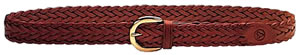"Galco SB2026, Braided Belt, 26"", Tan Leather"