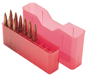 MTM J20L29 Large Base 20 Round Rifle Ammo Box, Red