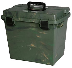 MTM SPUD709 Large Utility Dry Box w/Top Lid Access, Full Size Utility Tray, Camo