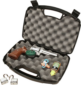 MTM Black Single Handgun Case Up To 6 in Barrel 80740