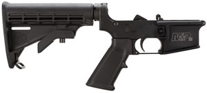 Smith & Wesson 812002 Complete Assembly Lower w/Standard Trigger Group, Collapsible Stock For MP15